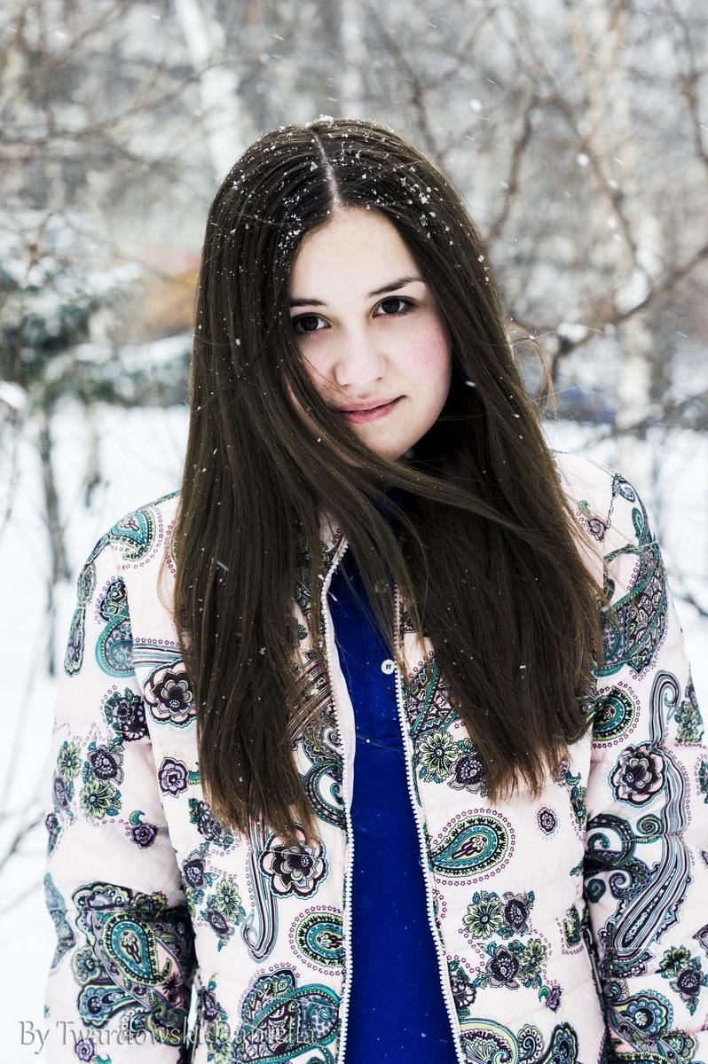 фотосессия Марии зимой